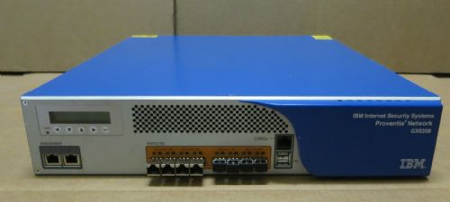 IBM Internet Security Systems Proventia GX5208SFP GX5208 Network Firewall + SFPs